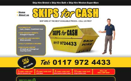 Skips for Hire - Website Thumbnail and link