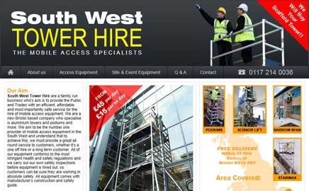 South West Tower Hire - Website Thumbnail and link