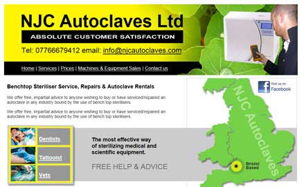 NJC Autoclaves Ltd - Website Thumbnail and link