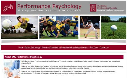 SMV Performance Psychology - Thumbnail image with link to website
