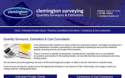 clemington surveying - Thumbnail image with link to website
