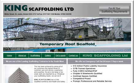King Scaffolding Ltd - Thumbnail image with link to website