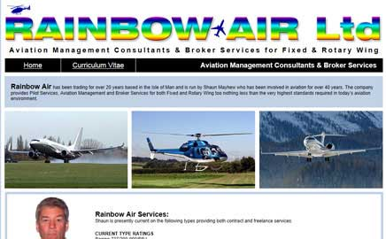 Rainbow Air Ltd - Thumbnail image with link to website