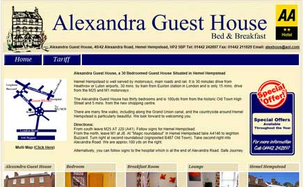 Alexandra Guest House B&B - Thumbnail image with link to website