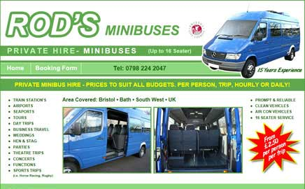 Rod's Minibuses - Thumbnail image with link to website