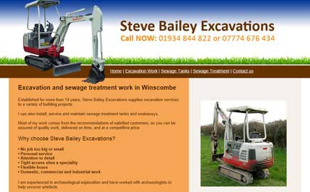 Steve Bailey Excavations - Thumbnail image with link to website