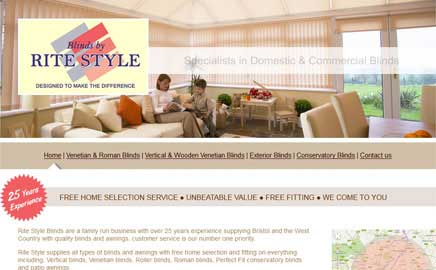 Rite Style Blinds - Thumbnail image with link to website