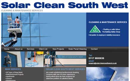 Solar Clean South West - Thumbnail image with link to website