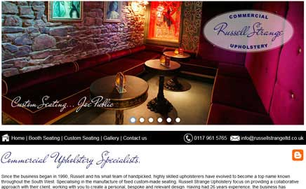 Russell Strange Upholstery Ltd - Thumbnail image with link to website