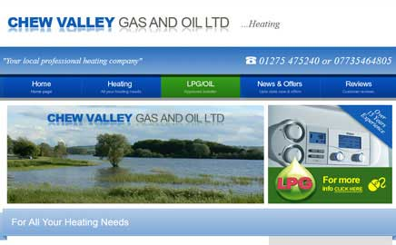 Chew Valley Gas and Oil - Thumbnail image with link to website