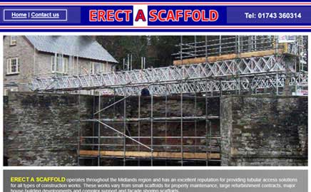 Erect A Scaffold - Thumbnail image with link to website