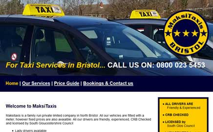 MAKSI TAXI Bristol - Thumbnail image with link to website