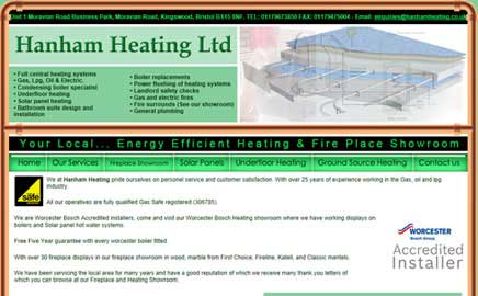 Hanham Heating Ltd - Thumbnail image with link to website