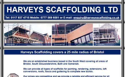 Harveys Scaffolding Ltd - Thumbnail image with link to website