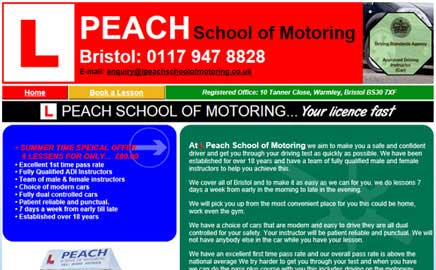 L Peach School of Motoring - Thumbnail image with link to website
