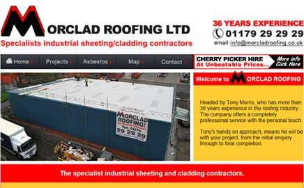 Morclad Roofing Ltd - Thumbnail image with link to website