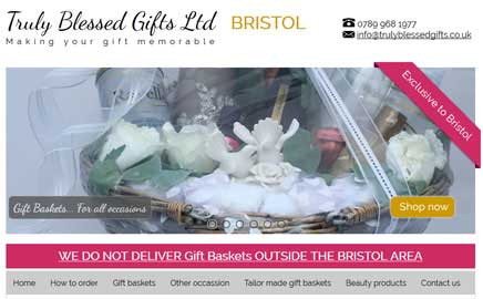 Truly Blessed Gifts Ltd - Thumbnail image with link to website