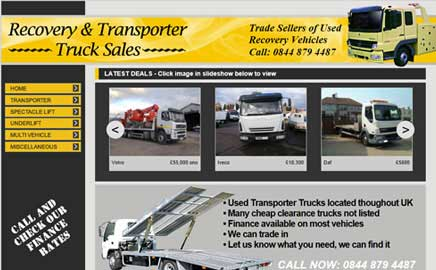 Recovery & Transporter Truck Sales - Thumbnail image with link to website