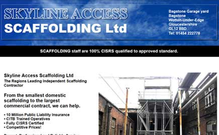 Skyline Access Scaffolding Ltd - Thumbnail image with link to website