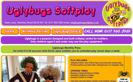 Ugly Bugs Softplay - Thumbnail image with link to website