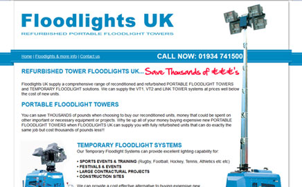 Floodlights UK - Thumbnail image with link to website