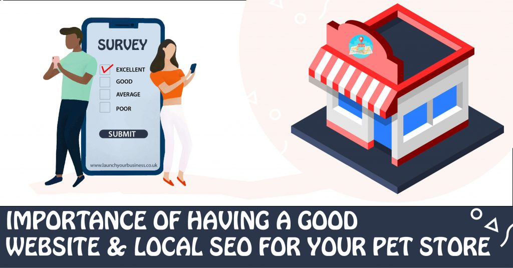 Importance of having a good website and local SEO for your pet store