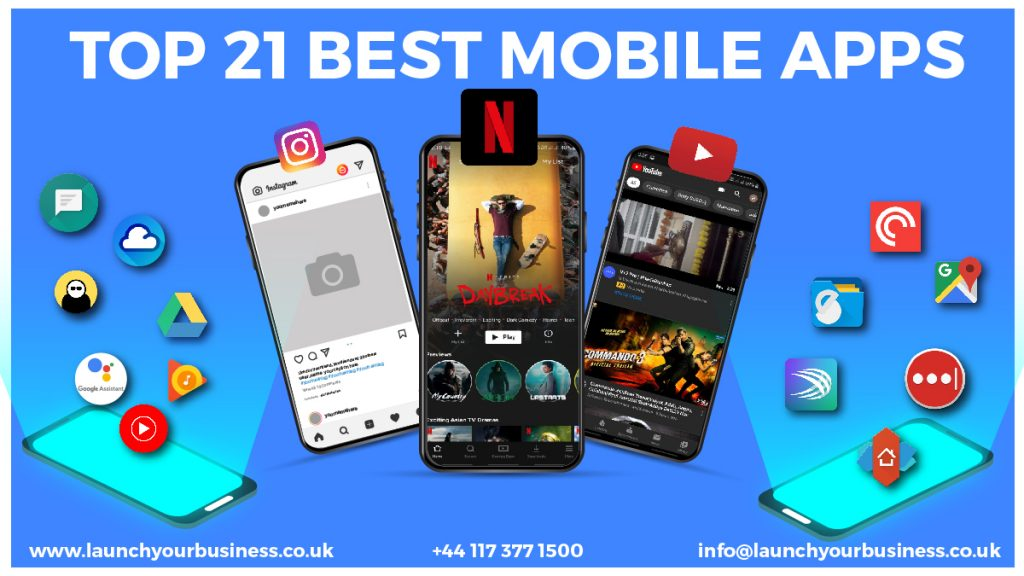 Top 21 mobile apps